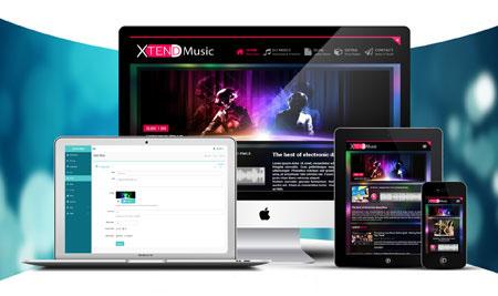 دانلود XTEND 2 – اسکریپت ایجاد و مدیریت وب سایت خوانندگان موسیقی