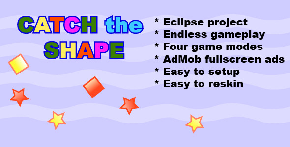 دانلود سورس کد codecanyon – Catch The Shape Android Game