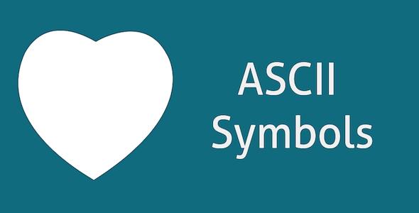 دانلود سورس کد کارکتر های سیمبول ASCII Text Symbols – Top Android App
