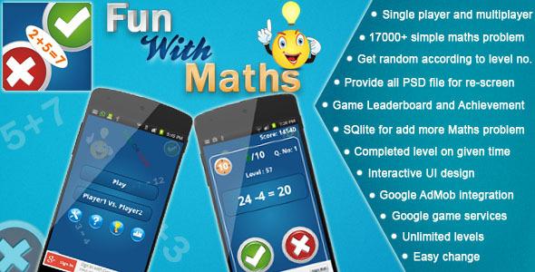 دانلود سورس کد بازی ریاضی codecanyon – Maths Fun