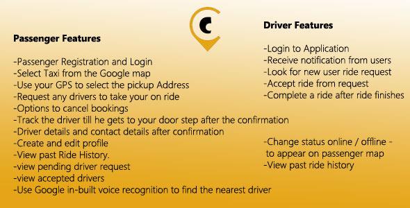 دانلود سورس کد تاکسی یاب آنلاین codecanyon – Android Taxi Booking Complete Solution