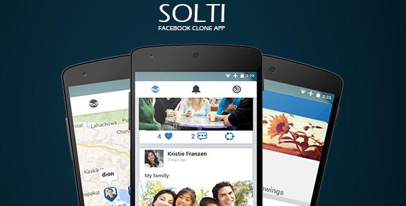 دانلود سورس کد نرم افزار فیس بوک codecanyon – Facebook Clone Android App v1.0 – With friends radar