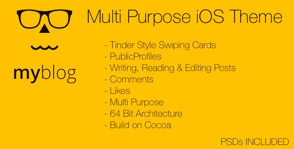 دانلود سورس کد codecanyon – MyBlog Multi Purpose iOS Theme