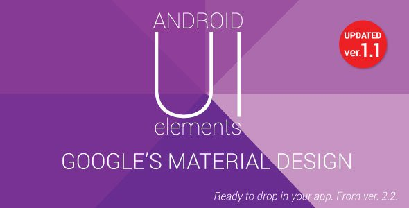 دانلود سورس کد متریال دیزاین اندروید codecanyon – Material Design UI Android Template App v1.1