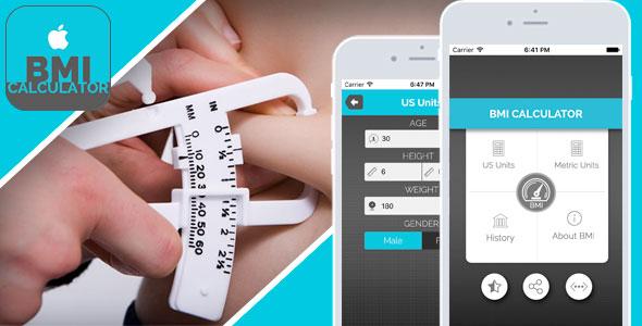 دانلود سورس کد اندازه گیری codecanyon – BMI Calculator for iOS – Full Application with PSD