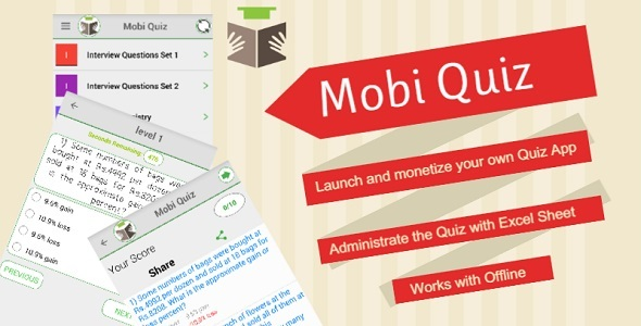 دانلود سورس کد امتحان 4 گزینه ای codecanyon – Mobi Quiz – Practice Test, Evaluate your learning , Exam App