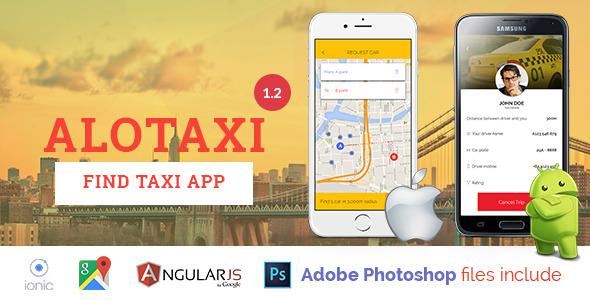 دانلود سورس کد سفارش تاکسی همانند اسنپ codecanyon – AloTaxi v1.2 – Mobile App Template