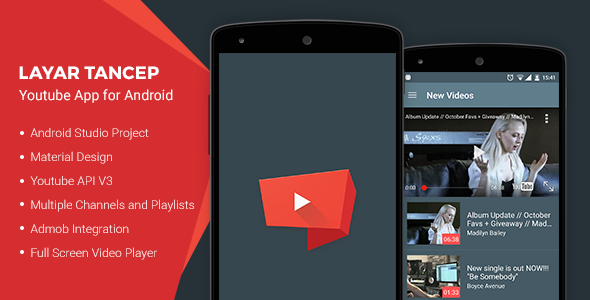 دانلود سورس کد یوتیوب codecanyon – Layar Tancep v2.0 – Youtube App for Android