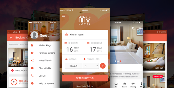 دانلود سورس کد codecanyon – My Hotel – Ionic Theme, Ionic Template for Mobile Booking Hotel App