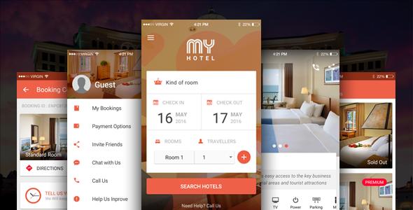 دانلود سورس کد codecanyon – My Hotel – Ionic Theme, Ionic Template for Mobile Booking Hotel App