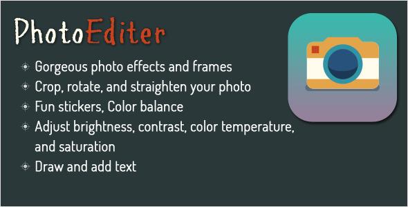دانلود سورس کد codecanyon – Photo Editor for Android – Using Aviary