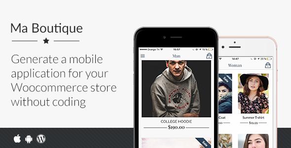 دانلود سورس کد codecanyon – Ma Boutique – Full Ionic Mobile App for Woocommerce