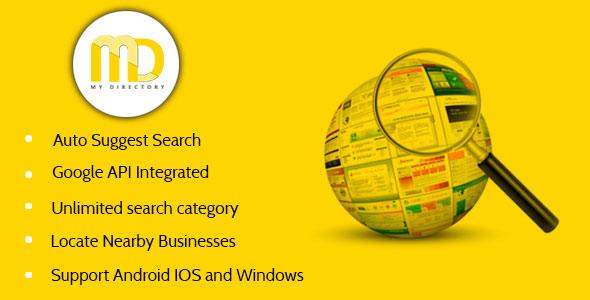 دانلود سورس کد codecanyon – My Directory App