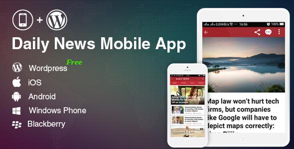 دانلود سورس کد codecanyon – Full Mobile Application for WordPress News, Blog, Magazine Website