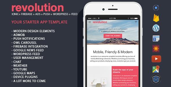 دانلود سورس کد codecanyon – revolution – complete Ionic app