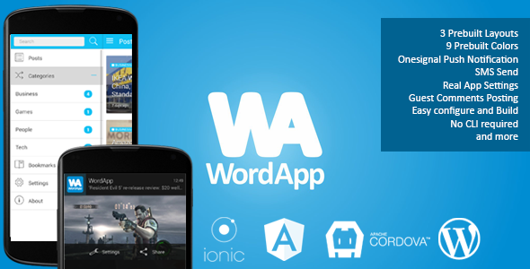 دانلود سورس کد codecanyon – WordApp – PhoneGap/Cordova WordPress Hybrid App