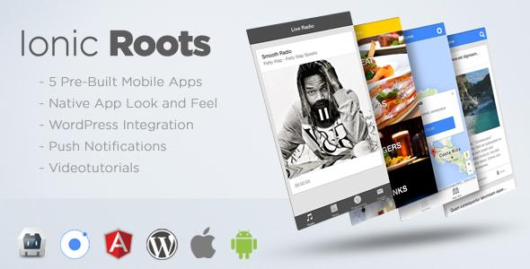 دانلود سورس کد codecanyon – Ionic Roots – Multi-Purpose Hybrid App with WordPress Backend