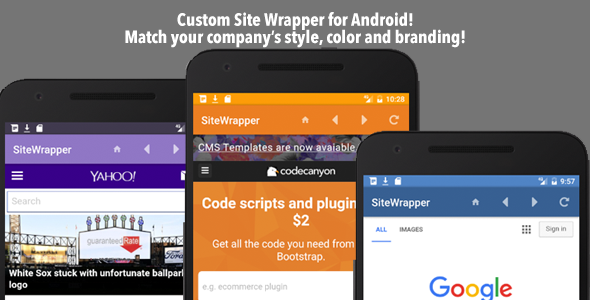 دانلود سورس کد codecanyon – Customizable Site App Android