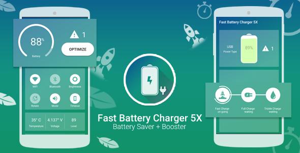 دانلود سورس کد Fast Battery Charger 5x & Battery Saver + Booster With Facebook Audience Network – AdChoice