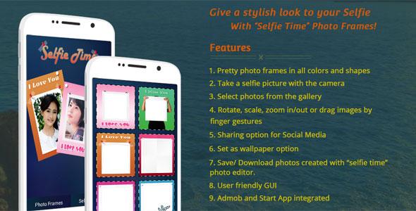 دانلود سورس کد codecanyon – Selfie Time – Selfie App