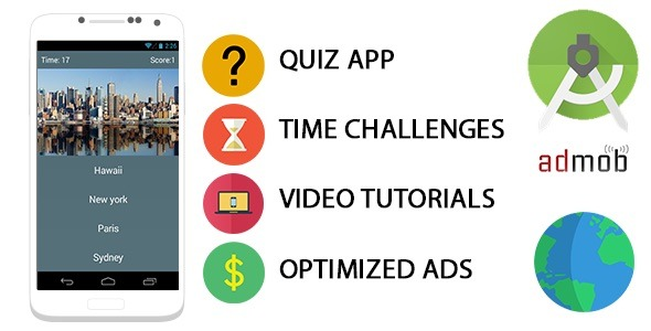 دانلود سورس کد Codecanyon – Quiz App Template For Android