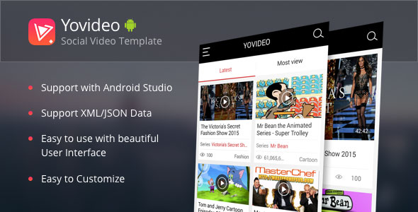دانلود سورس کد codecanyon – YoVideo v1.6.3 – Social network of video android