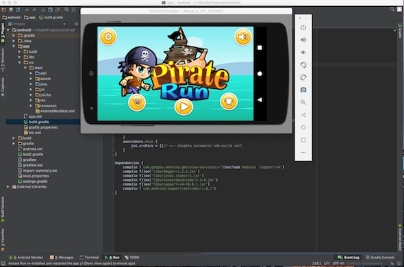 دانلود سورس کد codecanyon Pirate Adventures – Android studio, Google games,Leaderboard, Admob