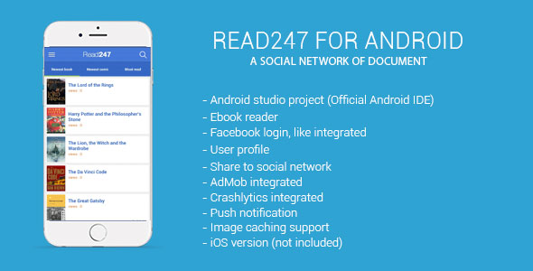 دانلود سورس کد codecanyon – Read247 – social network of document android