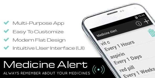 دانلود سورس کد داروخانه اندروید codecanyon – Medicine Alert