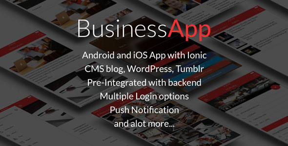 دانلود سورس کد codecanyon – BusinessApp – Ionic iOS/Android Full Application with powerful CMS