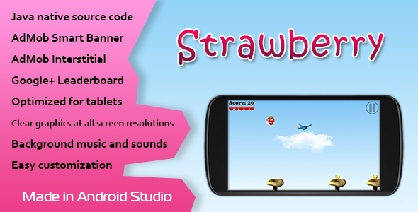 دانلود سورس کد codecanyon – Strawberry Game with AdMob and Leaderboard