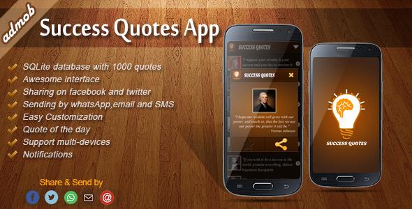 دانلود سورس کد codecanyon – Success Quotes – Android Template