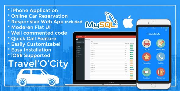 دانلود سورس کد codecanyon – TravelOcity – Car Rental iOS Mobile App