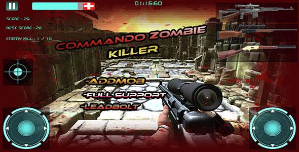 دانلود سورس کد بازی اکشن اندروید codecanyon – Zombie Killer Attack : Multi Guns