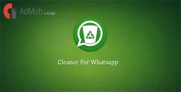 دانلود سورس کد نرم افزار پاک کننده فایل های اضافی واتس اپ codecanyon – Cleaner For Whatsapp