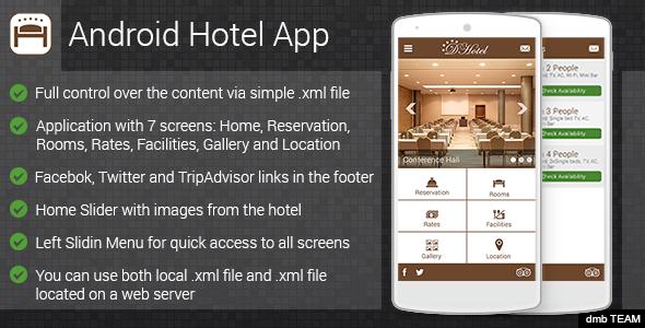 دانلود سورس کد مدیریت هتل codecanyon – Android Hotel App