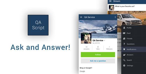 دانلود سورس کد پرسش و پاسخ اندروید codecanyon – Ask and Answer App