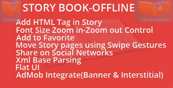 دانلود سورس کتاب داستان آفلاین اندروید codecanyon – Story Book-Offline
