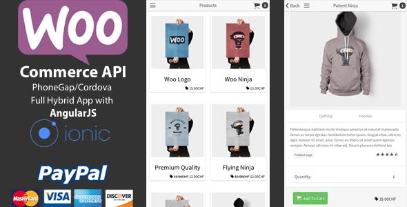 دانلود سورس کد فروشگاه ووکامرس اندروید codecanyon – Ionic WooCommerce API v1.5.0 – PhoneGap / Cordova Full Hybrid App