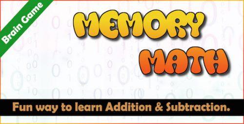 دانلود سورس بازی فکری اندروید Memory Math – A Brain Training Game Android