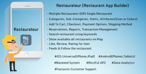 دانلود سورس codecanyon – Restaurateur – Solution For Any Restaurants App