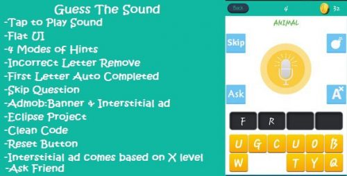 دانلود سورس codecanyon – Guess The Sound Mobile App