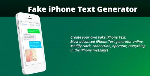 دانلود سورس codecanyon – Fake iPhone Text Generator