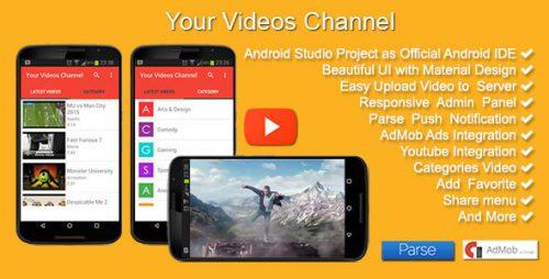 دانلود سورس کانال ویدئو اندروید codecanyon – Your Videos Channel