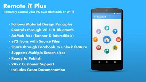 دانلود سورس codecanyon – Remote iT Plus – Control your PC + Admob + Share