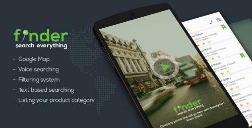 دانلود codecanyon – Finder android app template
