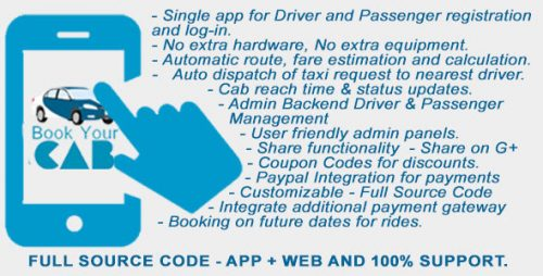 دانلود سورس Complete App Based Cab Booking Business Solution