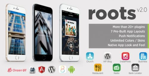 دانلود سورس Roots – PhoneGap/Cordova Multi-Purpose Hybrid App