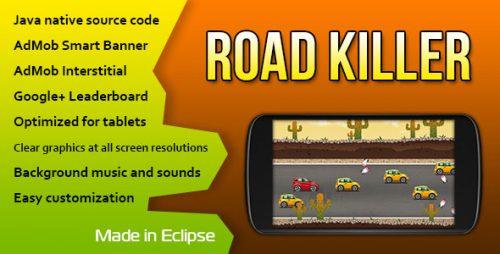 دانلود سورس codecanyon – Road Killer with AdMob and Leaderboard