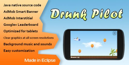 دانلود سورس codecanyon – Drunk Pilot with AdMob and Leaderboard